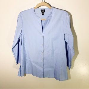 Eileen Fisher Button Down Periwinkle Top